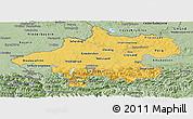 Savanna Style Panoramic Map of Oberösterreich