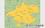 Savanna Style Simple Map of Oberösterreich