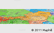 Political Shades Panoramic Map of Austria