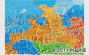 Political Shades 3D Map of Salzburg