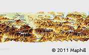 Physical Panoramic Map of Hallein