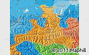 Political Shades Map of Salzburg