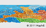 Political Shades Panoramic Map of Salzburg
