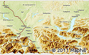 Physical 3D Map of Salzburg-Umgebung