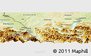 Physical Panoramic Map of Salzburg-Umgebung
