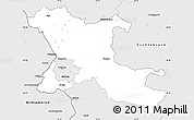 Silver Style Simple Map of Salzburg-Umgebung