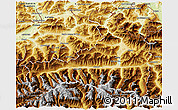 Physical 3D Map of Zell am See