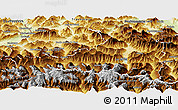 Physical Panoramic Map of Zell am See