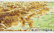 Physical 3D Map of Steiermark