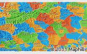 Political 3D Map of Steiermark