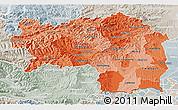 Political Shades 3D Map of Steiermark, lighten, semi-desaturated