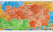 Political Shades 3D Map of Steiermark