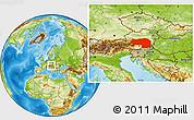 Physical Location Map of Steiermark