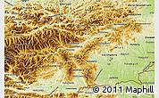 Physical Map of Steiermark