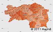 Political Shades Map of Steiermark, cropped outside