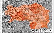 Political Shades Map of Steiermark, desaturated