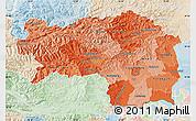 Political Shades Map of Steiermark, lighten
