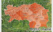 Political Shades Map of Steiermark, satellite outside