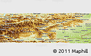 Physical Panoramic Map of Steiermark