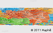 Political Shades Panoramic Map of Steiermark