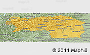 Savanna Style Panoramic Map of Steiermark