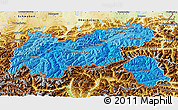 Political Shades 3D Map of Tirol, physical outside