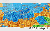Political Shades 3D Map of Tirol