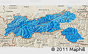 Political Shades 3D Map of Tirol, shaded relief outside