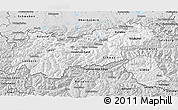 Silver Style 3D Map of Tirol