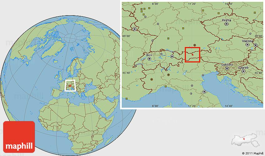 Savanna Style Location Map of Innsbruck