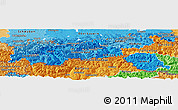 Political Shades Panoramic Map of Tirol