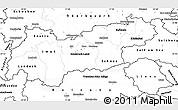 Blank Simple Map of Tirol