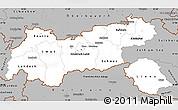 Gray Simple Map of Tirol