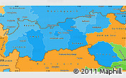 Political Shades Simple Map of Tirol
