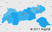 Political Shades Simple Map of Tirol, single color outside