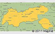Savanna Style Simple Map of Tirol