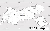 Silver Style Simple Map of Tirol, cropped outside