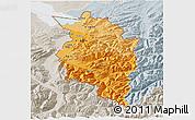 Political Shades 3D Map of Vorarlberg, lighten, semi-desaturated
