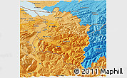 Political Shades 3D Map of Vorarlberg