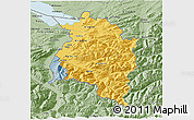 Savanna Style 3D Map of Vorarlberg