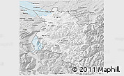 Silver Style 3D Map of Vorarlberg