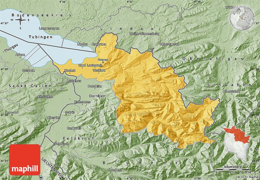 Savanna Style Map of Bregenz