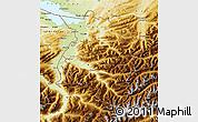 Physical Map of Vorarlberg