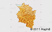 Political Shades Map of Vorarlberg, cropped outside