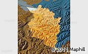 Political Shades Map of Vorarlberg, darken
