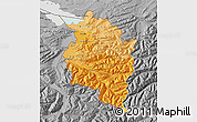 Political Shades Map of Vorarlberg, desaturated