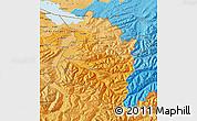Political Shades Map of Vorarlberg