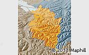 Political Shades Map of Vorarlberg, semi-desaturated