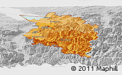 Political Shades Panoramic Map of Vorarlberg, lighten, desaturated