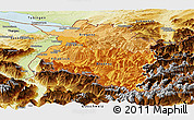 Political Shades Panoramic Map of Vorarlberg, physical outside